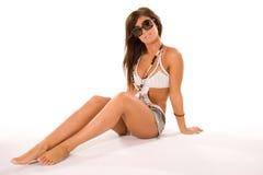 ładna brunetki dziewczyna Obraz Stock