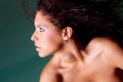 ładna brunetki kobieta Zdjęcia Royalty Free