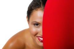 ładna brunetki kobieta Fotografia Stock