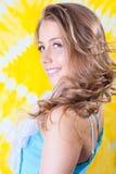 Ładna młoda kobieta zbliżenie portret zdjęcie royalty free