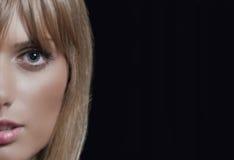 ładna twarzy dziewczyna Obraz Stock