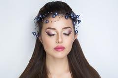 ładna twarzy kobieta Fotografia Stock