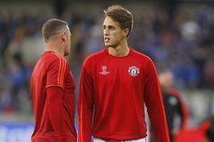 Adnan Januzaj Champion League FC Bruges - Manchester United Royalty Free Stock Photo