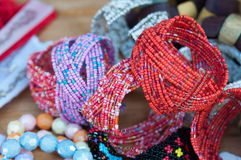 Ładne colourful bransoletki Fotografia Royalty Free