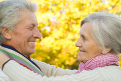 ładne par starsze osoby obraz stock