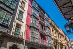 Ładne ulicy Bilbao w Baskijskim kraju Hiszpania Zdjęcie Stock