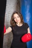 Ładnej dziewczyny bokserska bonkreta Obrazy Royalty Free