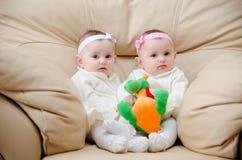 ładni bliźniacy Obrazy Royalty Free