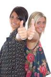 ładni dziewczyna kciuki dwa Zdjęcia Royalty Free