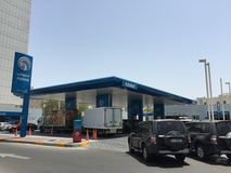 ADNOC gas station in Abu Dhabi, UAE. Abu Dhabi National Oil Company (ADNOC) gas station in Abu Dhabi, the capital of the United Arab Emirates. Adnoc is now stock images
