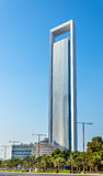 ADNOC Headquarters skyscraper in Abu Dhabi Stock Image