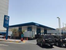 ADNOC-Tankstelle in Abu Dhabi, UAE Stockbilder