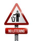 Żadny śmiecić drogowego znaka ilustracyjny projekt Zdjęcie Royalty Free