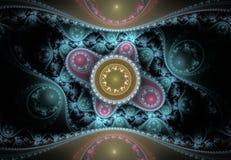 Ładny abstrakcjonistyczny fractal wzór Zdjęcie Stock