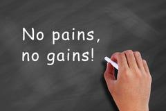 Żadny bóle, żadny zyski! zdjęcie royalty free