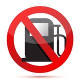 Żadny benzyna. żadny paliwowej pompy znak Zdjęcia Stock