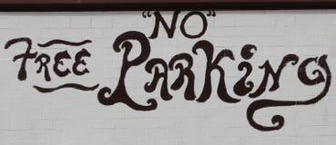 Żadny Bezpłatny parking wolnej ręki obraz Obraz Stock