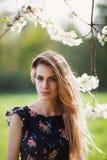 ładny blondynka portret Zdjęcia Royalty Free