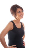 ładny brunetka portret Obraz Royalty Free
