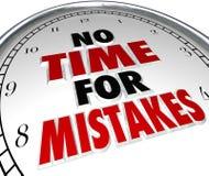 Żadny czas dla błędu ostatecznego terminu pracy Zegarowej dokładności ilustracja wektor