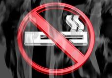 żadny dymny dymienie Fotografia Royalty Free