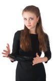 Ładny dziewczyny mienia winylu dysk Zdjęcie Stock