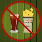 Żadny fast food ilustracji