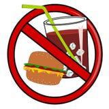Żadny fasta food znak ilustracja wektor