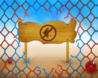 Żadny głośny rozsądny symbol na drewnianej, łamanej sieci i Obrazy Royalty Free