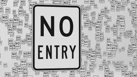 Żadny Hasłowi ruchów drogowych znaki Unosi się w biel przestrzeni ilustracji
