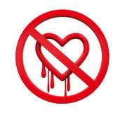 Żadny Heartbleed znak Fotografia Stock