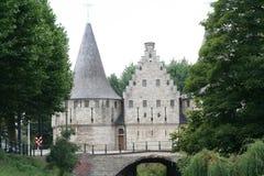 Ładny historyczny budynek w Ghent Belgia obraz stock