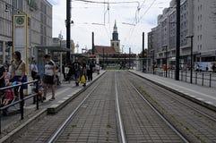 ŻADNY JAWNY tramwaj I Zdjęcie Royalty Free
