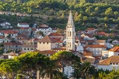 Ładny Jelsa w Hvar w Chorwacja Obrazy Stock