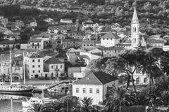 Ładny Jelsa w Hvar w Chorwacja Fotografia Stock