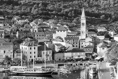 Ładny Jelsa w Hvar w Chorwacja Zdjęcia Stock