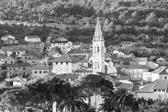 Ładny Jelsa w Hvar w Chorwacja Zdjęcie Stock