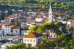 Ładny Jelsa w Hvar w Chorwacja Obraz Royalty Free