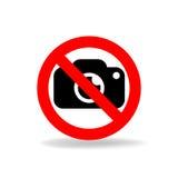 Żadny kamera wektoru znak Fotografia Stock