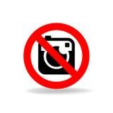 Żadny kamera wektoru znak Zdjęcia Stock
