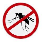 Żadny komara znak, wektorowa ilustracja Obraz Royalty Free