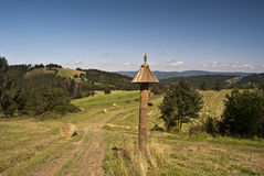 Ładny krajobraz blisko Petranky ugody Zdjęcia Royalty Free