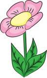Ładny kreskówka kwiat Obraz Royalty Free