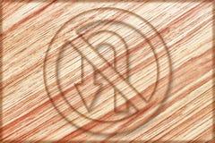 żadny lewy u zwrota znak na drewnianej desce Zdjęcie Royalty Free