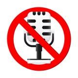Żadny mikrofonu znak Obrazy Stock