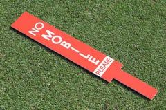 Żadny mobilny szyldowy miejsce na zieleni w golfowym turnieju obrazy royalty free