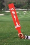 Żadny mobilny znak pokazywał personelem w golfowym turnieju obrazy stock
