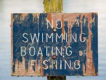 Żadny pływacki znak Obraz Stock