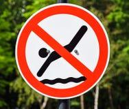 Żadny pływacki znak Obrazy Royalty Free