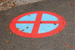 żadny parking znaka ruch drogowy Obrazy Stock